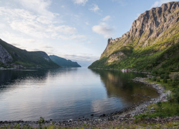 A fjord in Senja, Norway