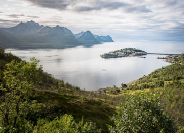 Husoy, a village on a Island, Senja, Norway